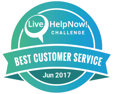 LiveHelpNow Customer Service Award Badge